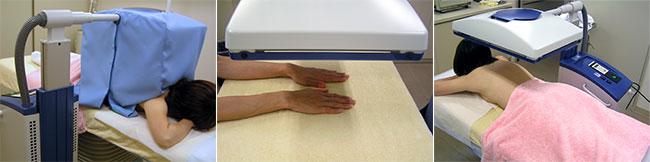 紫外線療法施術風景